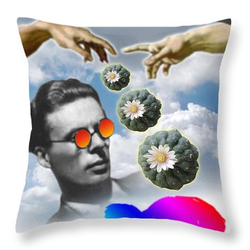 The Doors Of Deception Throw Pillow by Timothy Lowry