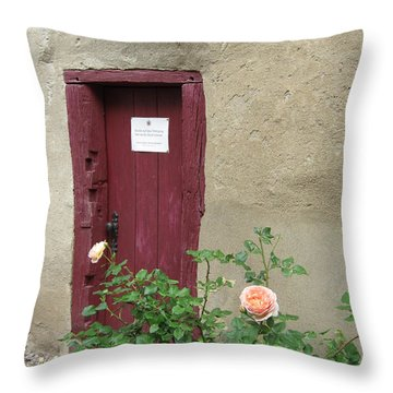 Throw Pillow featuring the photograph The Doorway by Pema Hou