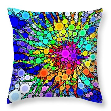 The Dots Have It Throw Pillow