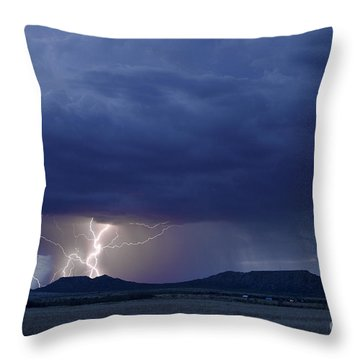 The Double Mountains Throw Pillow