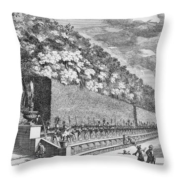 The Double Terrace Of One Hundred Fountains Throw Pillow