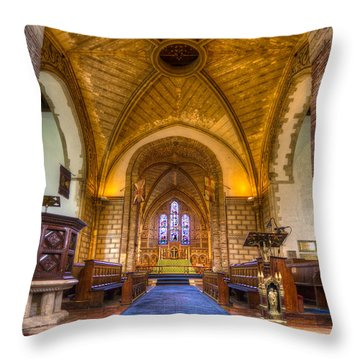 The Dover Church Of St. Mary In Castro Throw Pillow by Tim Stanley