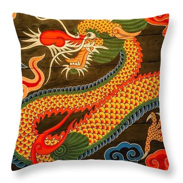 The Dragon Throw Pillow