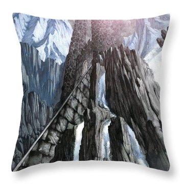 The Dragon Gate Throw Pillow by Curtiss Shaffer
