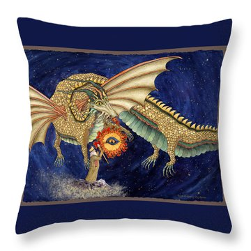 The Dragon King Throw Pillow