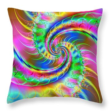 The Dragon's Tail Throw Pillow by Ester  Rogers