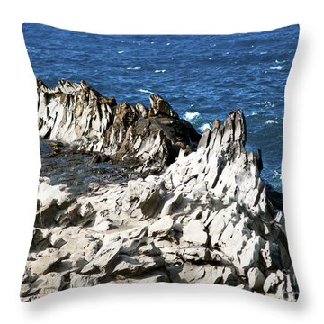 The Dragons Teeth I Throw Pillow by Patricia Griffin Brett