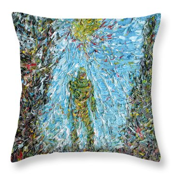 The Drama Of The Earth Throw Pillow by Fabrizio Cassetta