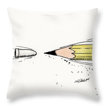 The Draw Throw Pillow