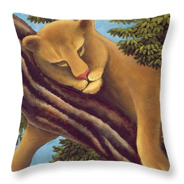 The Dream Throw Pillow by Jerzy Marek