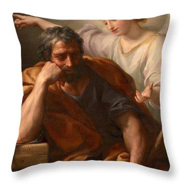 The Dream Of St Joseph Throw Pillow
