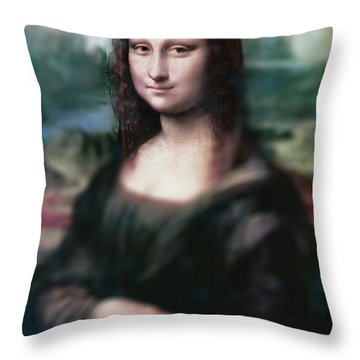 The Dream Of The Mona Lisa Throw Pillow by David Bridburg