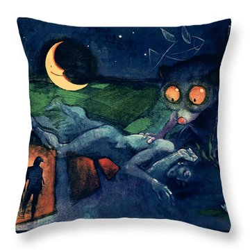 The Dreaming Throw Pillow by Udo Linke
