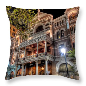 The Driskill Hotel Throw Pillow by Tim Stanley