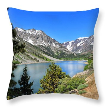 The Drive By Lundy Lake Throw Pillow by Lynn Bauer