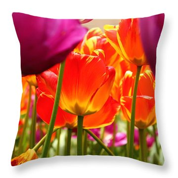 The Drooping Tulip Throw Pillow