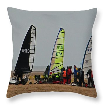 The Dry Yacht Team Throw Pillow