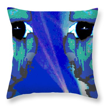 The Duality Of Man Throw Pillow by Jimi Bush