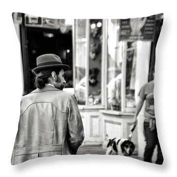 The Dude Throw Pillow by William Beuther
