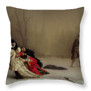 The Duel After The Masquerade Throw Pillow by Jean Leon Gerome