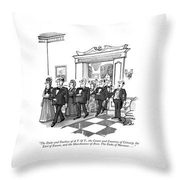The Duke And Duchess Of A.t. & T Throw Pillow