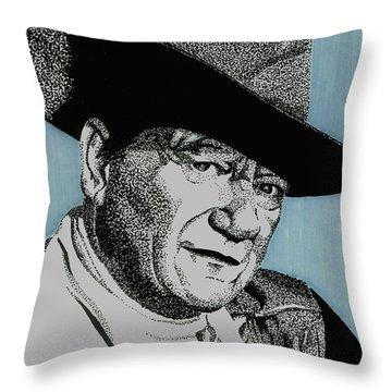 The Duke Throw Pillow by Cory Still