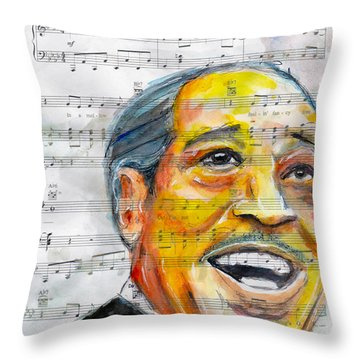 The Duke Throw Pillow by Howard Barry