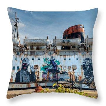 The Duke Of Graffiti Throw Pillow