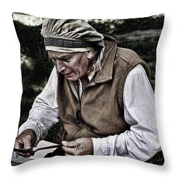 The Dulcimer Man Throw Pillow