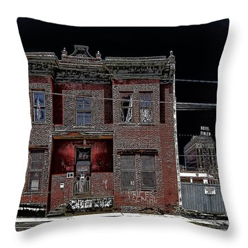 The Dumas Brothel - Butte Montana Throw Pillow by Daniel Hagerman
