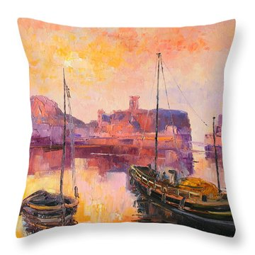 The Dunbar Harbour Throw Pillow