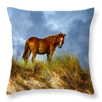 The Dune King Throw Pillow