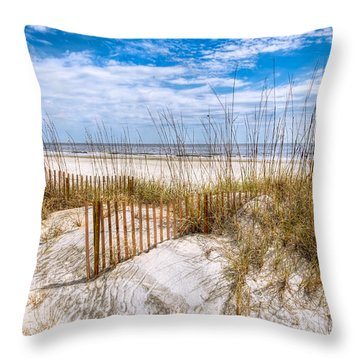 Throw Pillow featuring the photograph The Dunes by Debra and Dave Vanderlaan