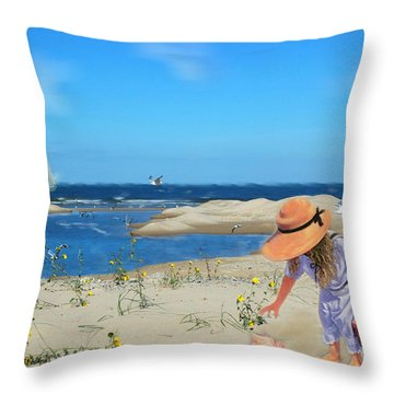 Throw Pillow featuring the photograph The Dunes by Mary Timman