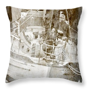 Throw Pillow featuring the digital art The Dutchman by Davina Washington