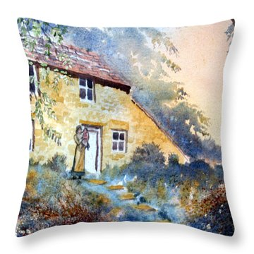 The Dwelling At Hawnby Throw Pillow