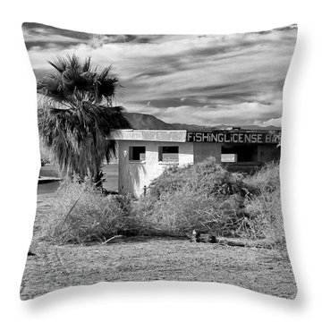 The Dying Sea Throw Pillow by Michael Pickett