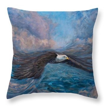 The Dynamic Of Flight Throw Pillow by Marco Busoni