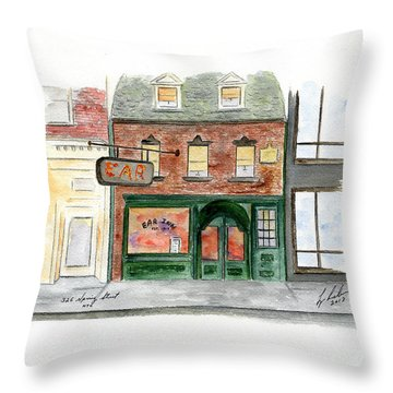 The Ear Inn Throw Pillow