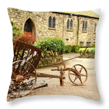Religion The Easter Candle  Throw Pillow by Linsey Williams