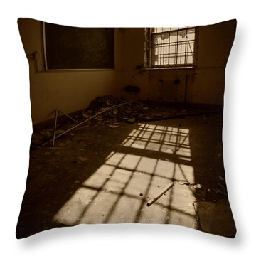 The Echo Of Emptiness Throw Pillow