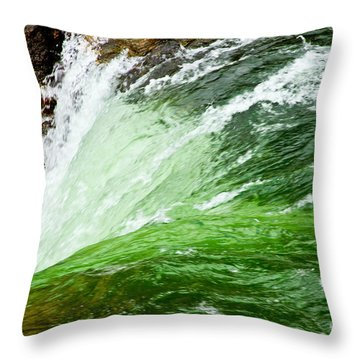 The Edge Throw Pillow by Bill Gallagher