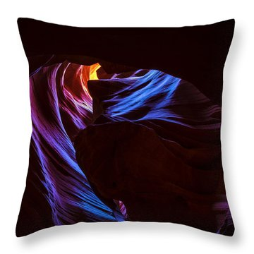 Throw Pillow featuring the photograph The Edge Of Darkness by Dustin  LeFevre