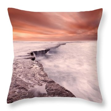 The Edge Of Earth Throw Pillow by Jorge Maia