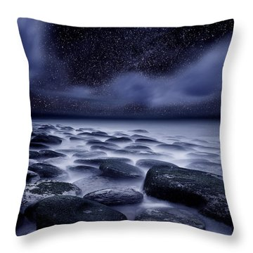 The Edge Of Forever Throw Pillow by Jorge Maia