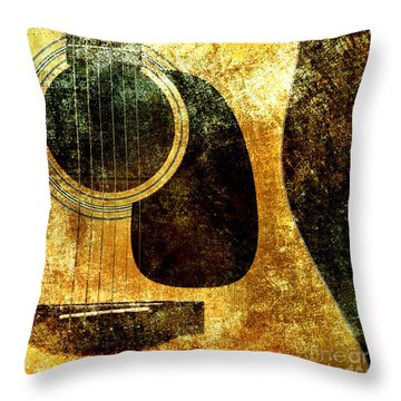 The Edgy Abstract Guitar Square Throw Pillow by Andee Design