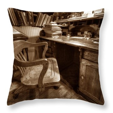The Editor's Desk Throw Pillow