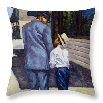 The Education Of A King Throw Pillow by Colin Bootman