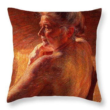 The Effect Of Sunlight Throw Pillow by Umberto Boccioni