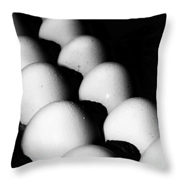 The Egg Brigade Throw Pillow